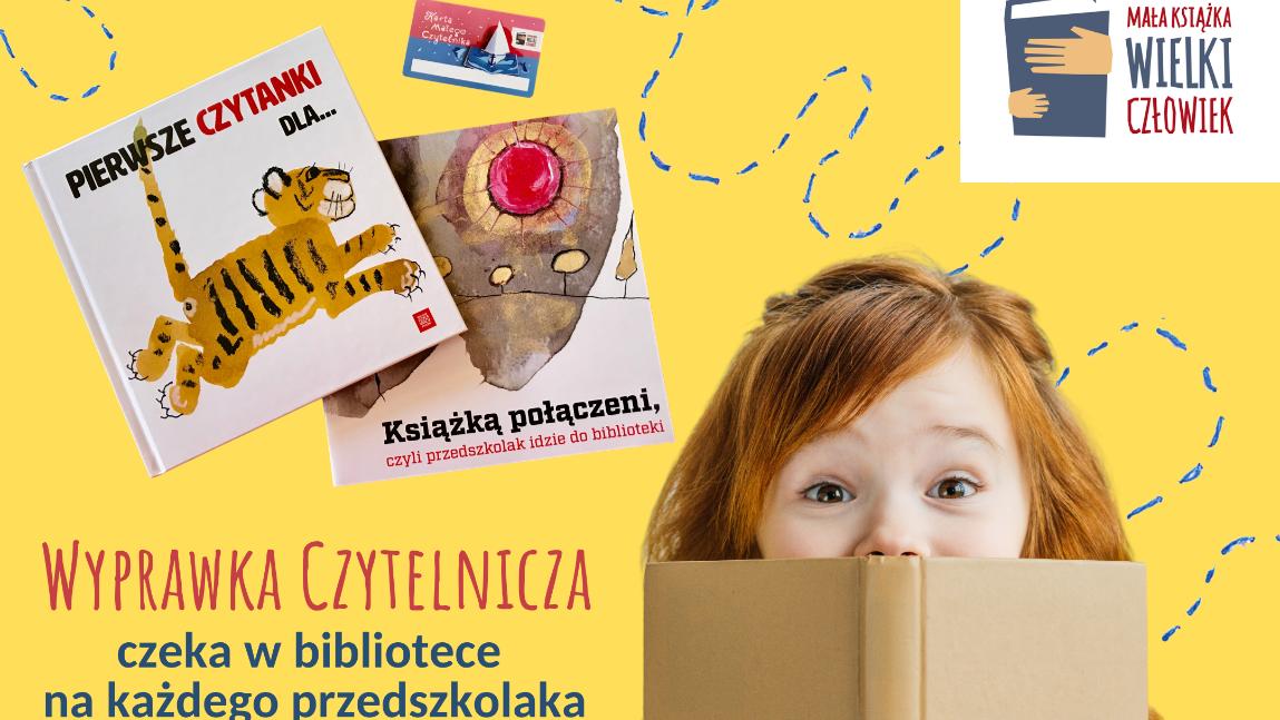 Dziecko promujące kampanię Mała Książka - Wielki Człowiek