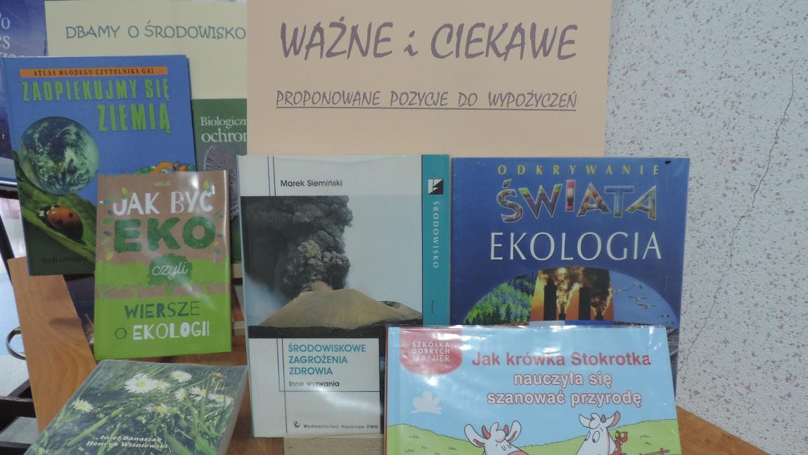 Wystawka książek o ekologii