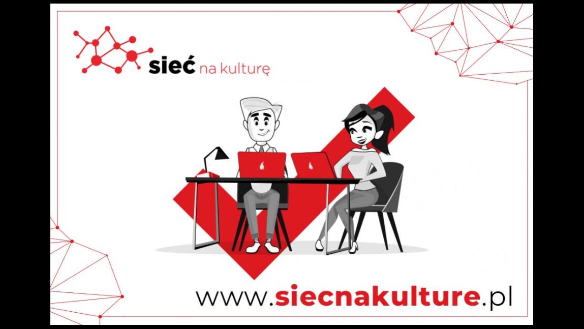 """Plakat promujący szkolenie w ramach projektu """"Sieć na kulturę w podregionie krośnieńskim"""""""