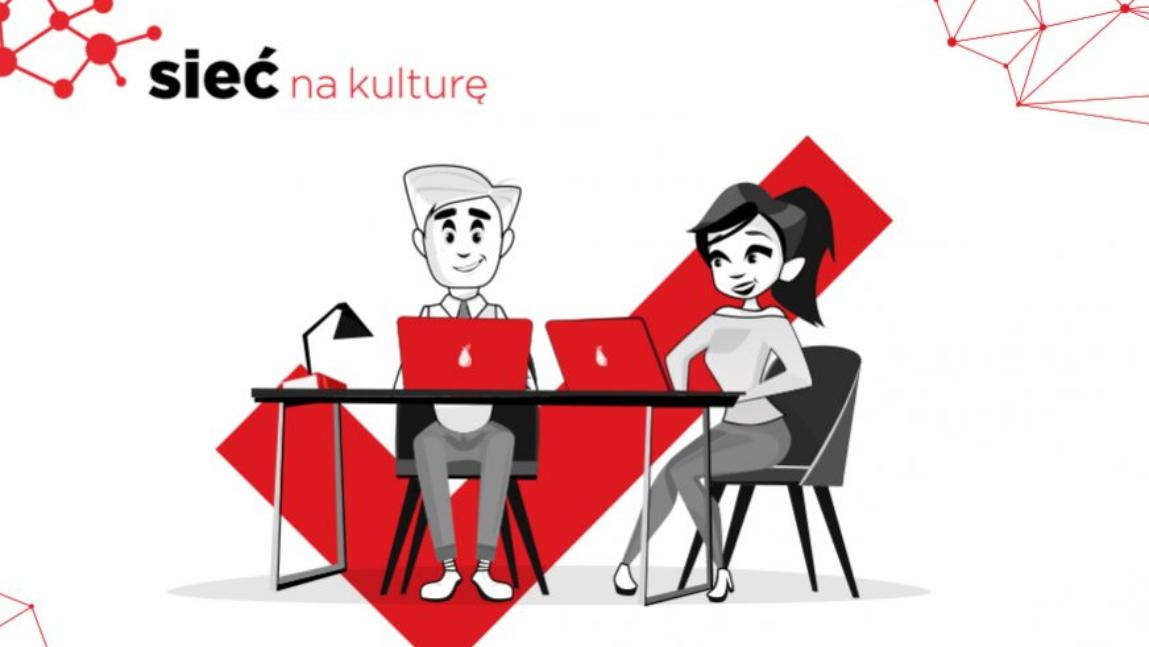 """Logo programu """"Sieć na kulturę"""""""