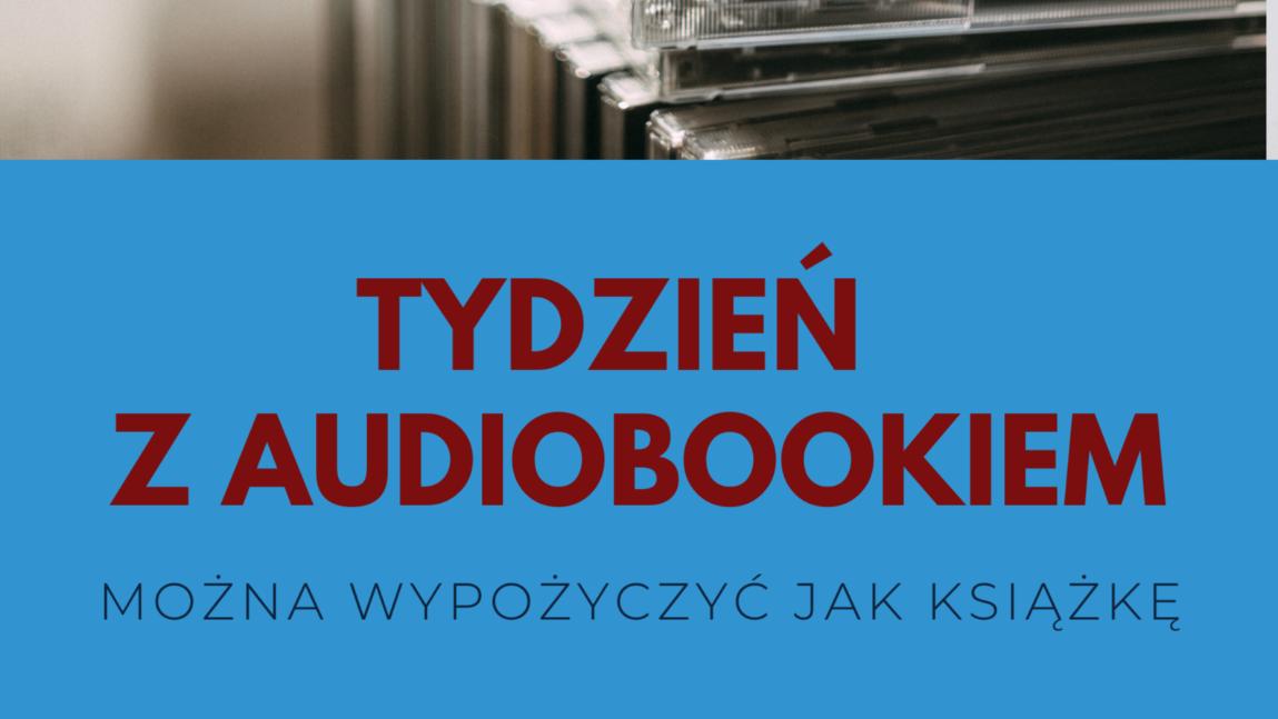 Plakat promujący wypożyczanie audiobooków