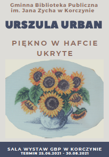 Plakat promujący wystawę Urszuli Urban.