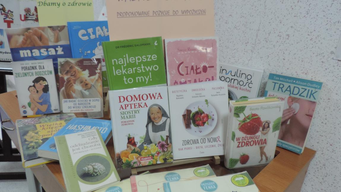 Książki dotyczące zdrowia